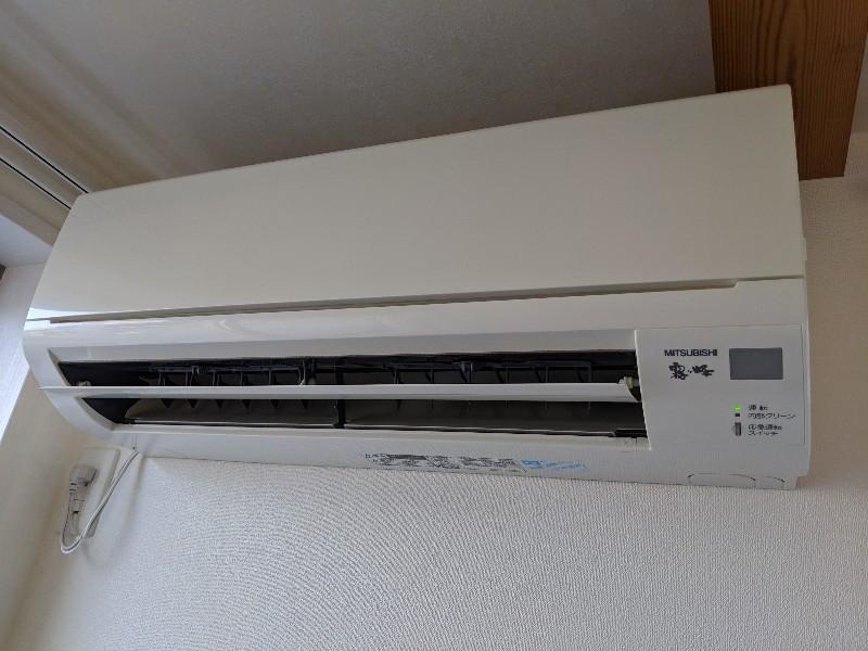 家庭用エアコンクリーニング現場写真:家庭用壁掛エアコンクリーニング外観三菱電機霧ヶ峰