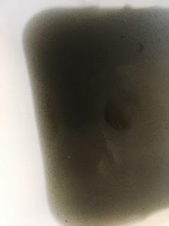 介護施設様エアコンクリーニング現場写真:家庭用壁掛エアコンクリーニング写真洗浄汚水